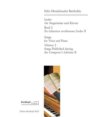 Lieder Volume 2 MENDELSSOHN Partition Mélodies - laflutedepan