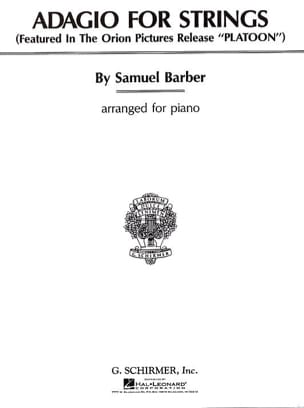 Adagio For Strings Opus 11. Piano BARBER Partition laflutedepan