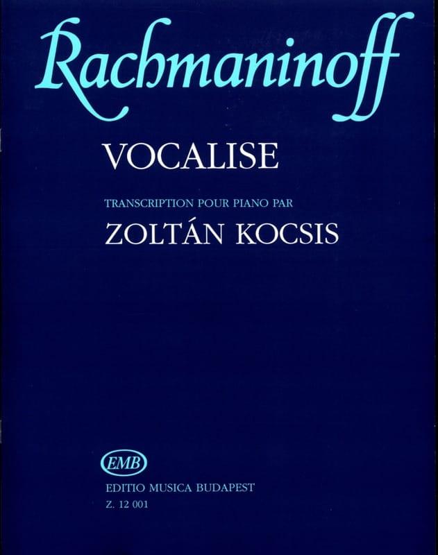 Vocalise op. 34-14 - RACHMANINOV - Partition - laflutedepan.com