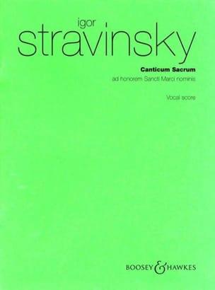 Igor Stravinski - Canticum Sacrum - Partition - di-arezzo.com