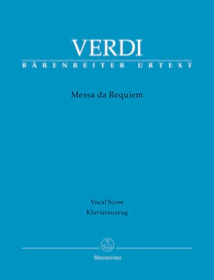 Requiem VERDI Partition Chœur - laflutedepan