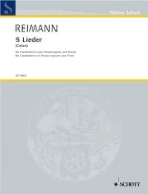 Fünf Lieder - Aribert Reimann - Partition - laflutedepan.com