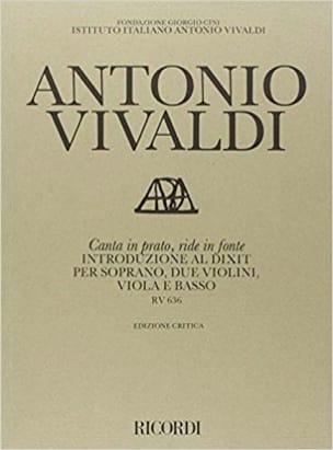 VIVALDI - Canta In Prato, Ride In Cast Iron RV 636 - Partition - di-arezzo.co.uk