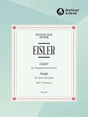 Lieder Pour Voix et Guitare Volume 2 Hanns Eisler laflutedepan