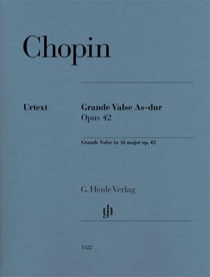 Grande Valse en La bémol majeur opus 42 CHOPIN Partition laflutedepan