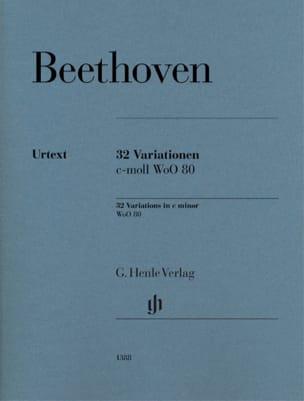 BEETHOVEN - 32 WoO 80-Variationen - Partition - di-arezzo.de