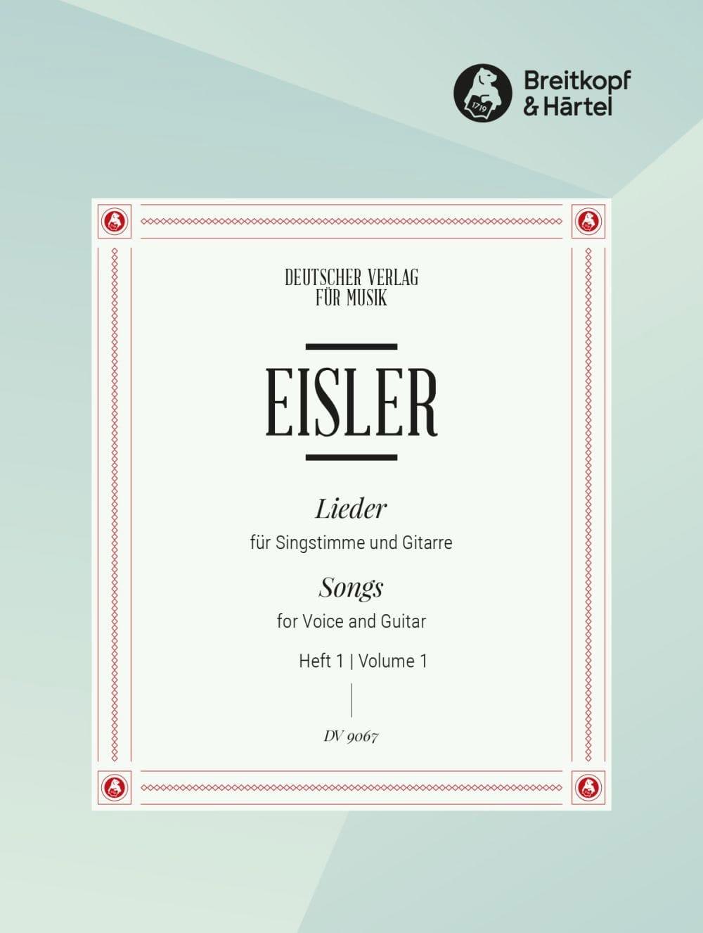 Lieder Pour Voix et Guitare Volume 1 - Hanns Eisler - laflutedepan.com