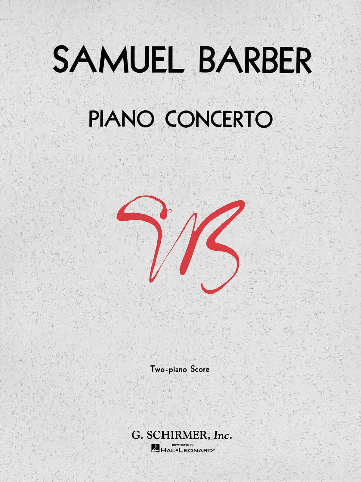 Concerto Pour Piano Opus 38 - BARBER - Partition - laflutedepan.com