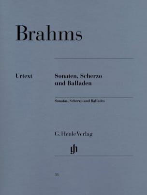 Sonates, Scherzo et Ballades BRAHMS Partition Piano - laflutedepan