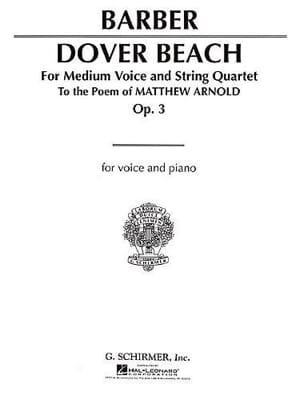 Dover Beach Opus 3 BARBER Partition laflutedepan