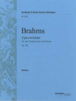 Zigeunerlieder Opus 103 BRAHMS Partition Chœur - laflutedepan