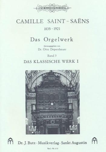 Oeuvre D'orgue Volume 3 - SAINT-SAËNS - Partition - laflutedepan.com