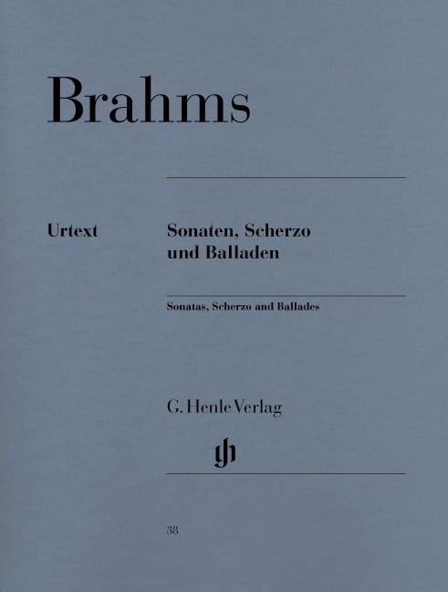 Sonates, Scherzo et Ballades - BRAHMS - Partition - laflutedepan.com