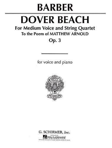 Dover Beach Opus 3 - BARBER - Partition - laflutedepan.com