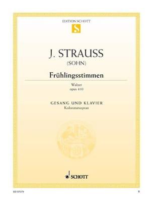 Johann fils Strauss - Frühlingsstimmen Opus 410 - Partition - di-arezzo.co.uk