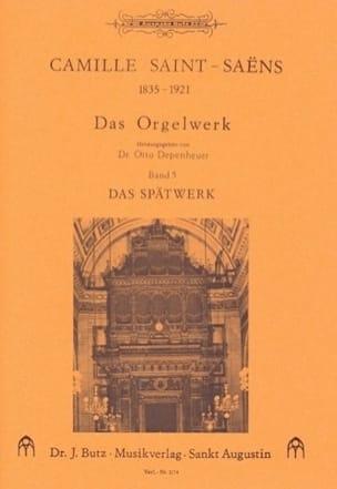 Oeuvre D'orgue Volume 5 SAINT-SAËNS Partition Orgue - laflutedepan