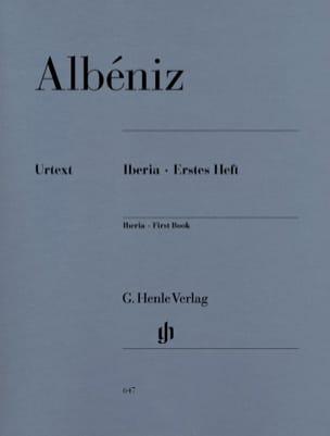 Iberia - Premier cahier ALBENIZ Partition Piano - laflutedepan