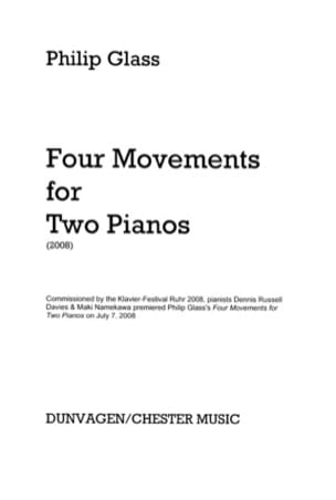 Four Movements For Two Pianos GLASS Partition Piano - laflutedepan