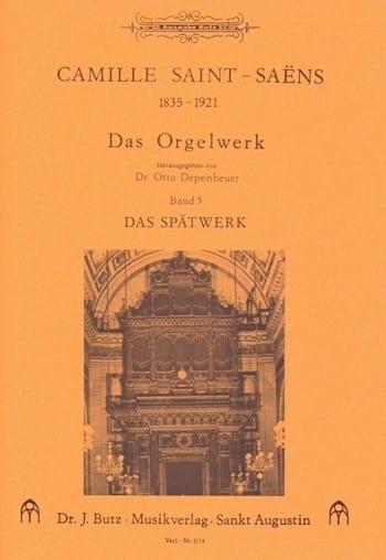 Oeuvre D'orgue Volume 5 - SAINT-SAËNS - Partition - laflutedepan.com