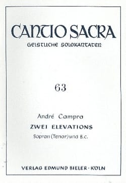 2 Elévations CAMPRA Partition Mélodies - laflutedepan