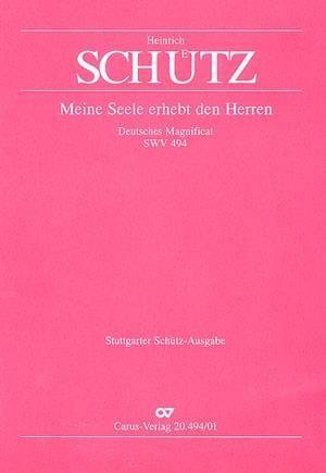 Meine Seele Erhebt Den Herren Swv 494 - SCHUTZ - laflutedepan.com