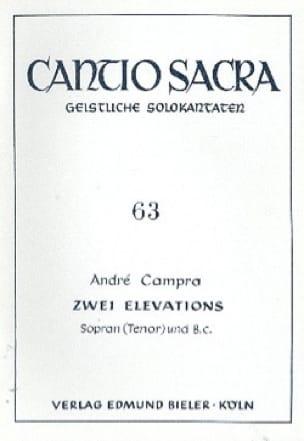 2 Elévations - CAMPRA - Partition - Mélodies - laflutedepan.com