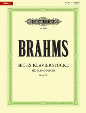 6 Klavierstücke Opus 118 BRAHMS Partition Piano - laflutedepan