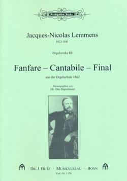 Orgelwerke. Volume 3 Nicolas-Jacques Lemmens Partition laflutedepan