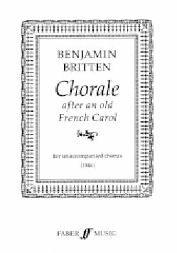 Choral After An Old French Carol BRITTEN Partition laflutedepan
