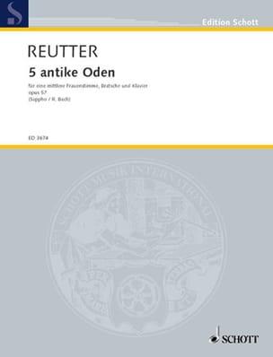 5 Antike Oden Opus 57 Hermann Reutter Partition Alto - laflutedepan