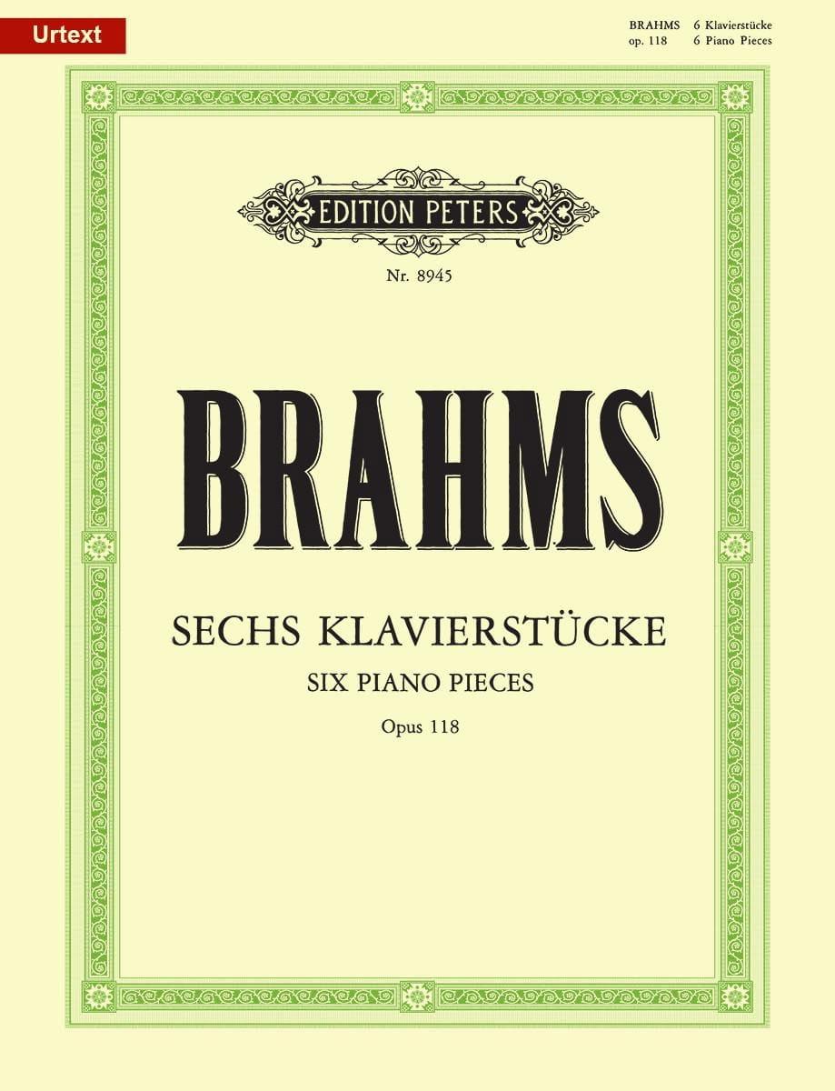 6 Klavierstücke Opus 118 - BRAHMS - Partition - laflutedepan.com