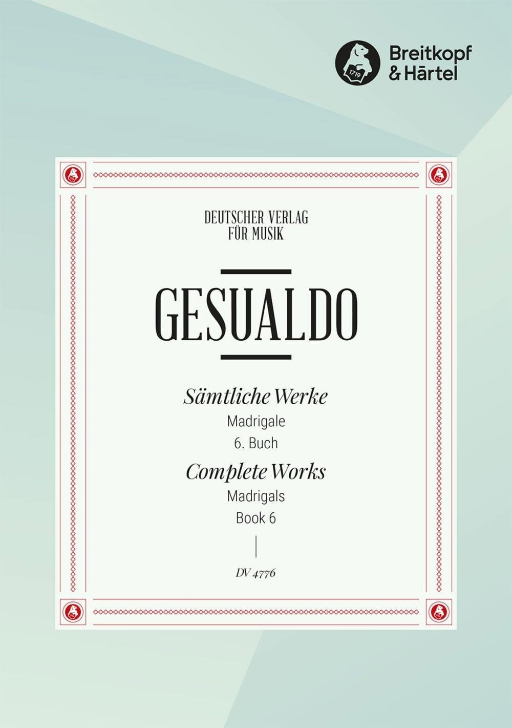 Madrigaux Livre 6 - di Venosa, Carlo Gesualdo - laflutedepan.com