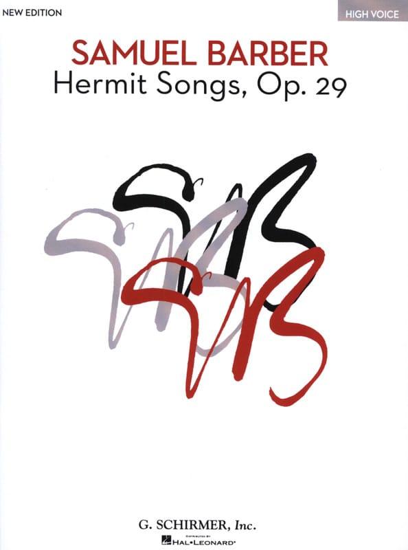 Hermit Songs Opus 29 . Voix Haute - BARBER - laflutedepan.com