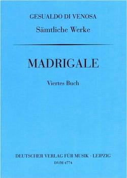 Madrigaux Livre 4 di Venosa, Carlo Gesualdo Partition laflutedepan