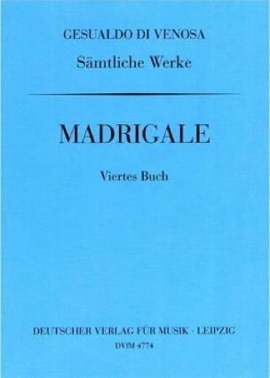Madrigaux Livre 4 - di Venosa, Carlo Gesualdo - laflutedepan.com