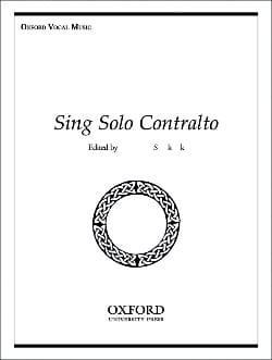 Sing Solo Contralto Partition Mélodies - laflutedepan