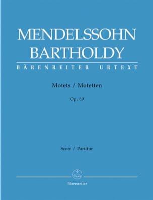 3 Motets Opus 69 MENDELSSOHN Partition Chœur - laflutedepan