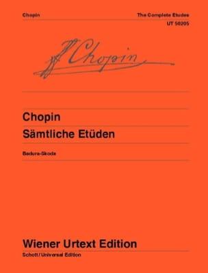 Etudes Opus 10 et 25 et 3 Nouvelles Etudes CHOPIN laflutedepan