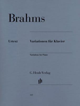 Variations Pour Piano BRAHMS Partition Piano - laflutedepan