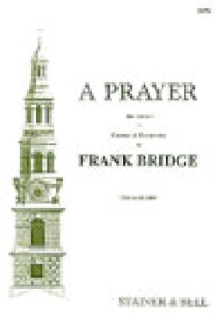 A Prayer - Frank Bridge - Partition - Chœur - laflutedepan.com