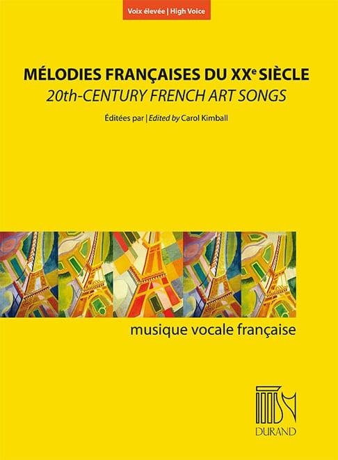 Mélodies françaises au XXème siècle. Voix haute - laflutedepan.com