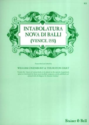 Intabolatura Nova Di Balli Venise 1551 Partition laflutedepan
