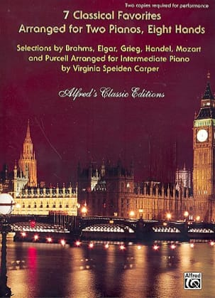 7 Classical Favorites. 2 Pianos 8 Mains Partition laflutedepan
