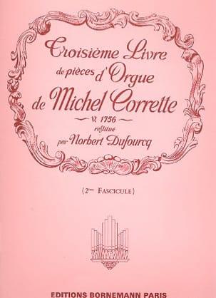 Livre D'orgue N° 3 Volume 2 Corrette Michel / Dufourq laflutedepan