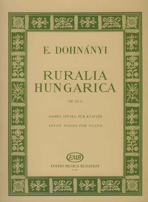 Ruralia Hungarica Op. 32a DONHANYI Partition Piano - laflutedepan