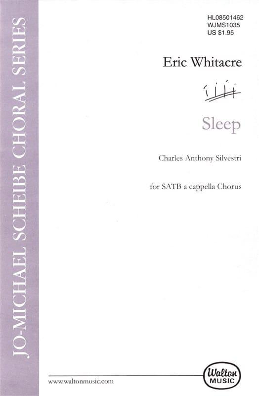 Sleep - Eric Whitacre - Partition - Chœur - laflutedepan.com