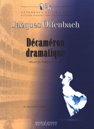 Décaméron Dramatique OFFENBACH Partition Piano - laflutedepan