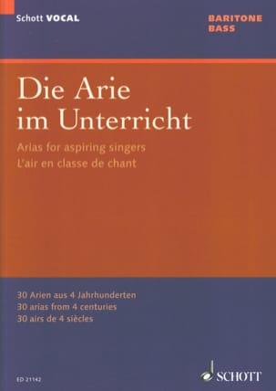 Die Arie im Unterricht. Baryton-basse Partition laflutedepan