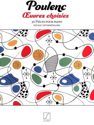 Oeuvres choisies - POULENC - Partition - Piano - laflutedepan.com