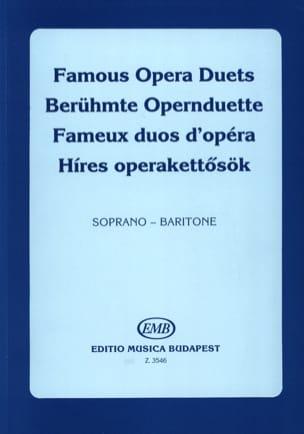 Célèbres Duos D'opéra. Soprano-Baryton Partition Duos - laflutedepan